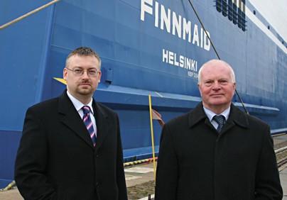 Wojciech Kępczyński, dyrektor zarządzający oraz Rafał Kwapisz, menadżer ds. marketingu i sprzedaży Finnlines Polska Sp. z o.o.