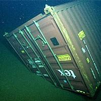Kontenery utopione w morzu