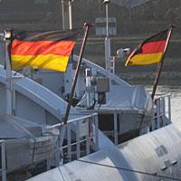 Niemiecka bandera w odwrocie