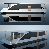 Słoneczny dom na wodzie